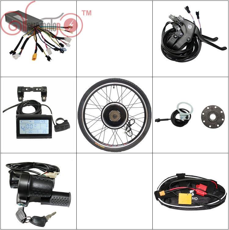 ConhisMotor Ebike Kit 36V 48V 1000W Front/Rear Electric Bicycle Motor 7 Speed Freewheel LCD Controller PAS Throttle Brake(China (Mainland))