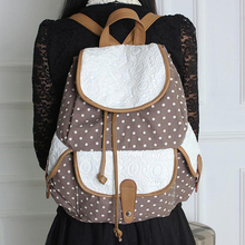 2016 Newest European American Style Women's Backpacks Jacquard Fashion Dot Lace Embroidery Backpacks Casual Women's Cover bag(China (Mainland))