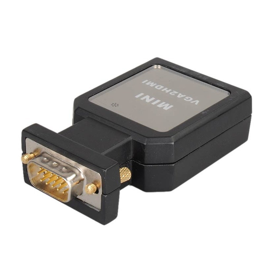 hfes mini vga male 15pin to hdmi converter adapter with. Black Bedroom Furniture Sets. Home Design Ideas