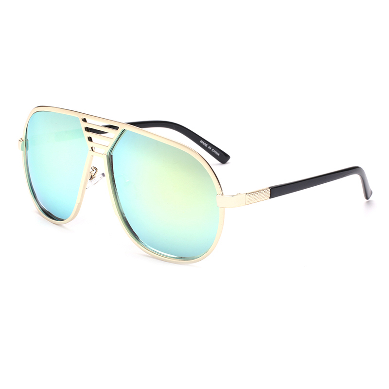 2017 Gold Goggle Women Cheap Sunglasses Discount UV400 Fashion Golf Sunglasses Stainless Steel Frame(China (Mainland))
