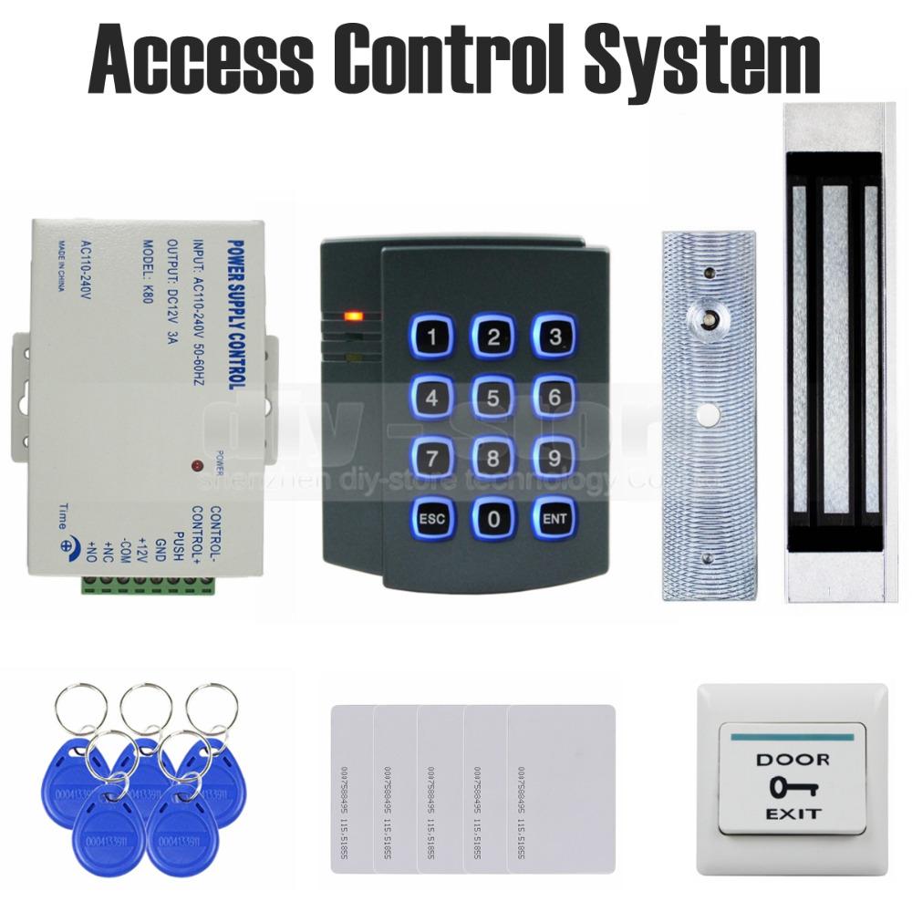 buy diy 125khz rfid password keypad access control system kit 180kg magnetic. Black Bedroom Furniture Sets. Home Design Ideas