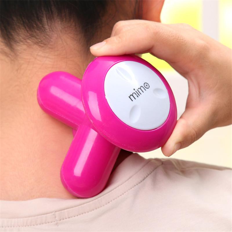 Hot sale colorful cute Mini USB Battery Dual power supply full body Massage Wave Vibrating Electric Handheld Massager(China (Mainland))