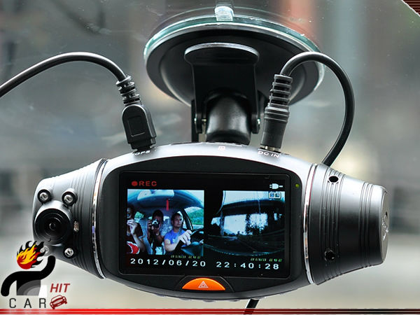 Double Camera Recorder Dashboard Car HD DVR with GPS Logger G-Sensor HD<br><br>Aliexpress