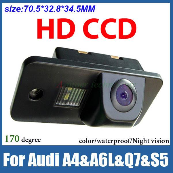 CCD HD Car backup camera for Audi A4 A6L Q7 S5 color night vision waterproof car parking camera car rear view camera(China (Mainland))
