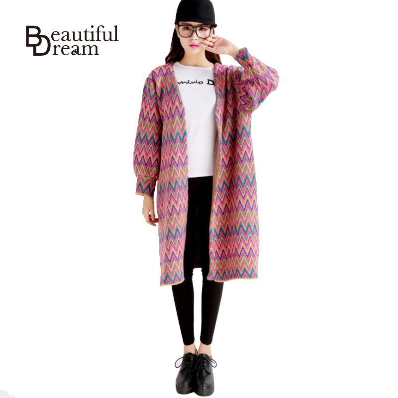 Loose Cardigan Women Sweater Autumn Fashion Plaid Female Cardigans Long Open Stitching Korean Casual Sweaters Knitted Cardigan