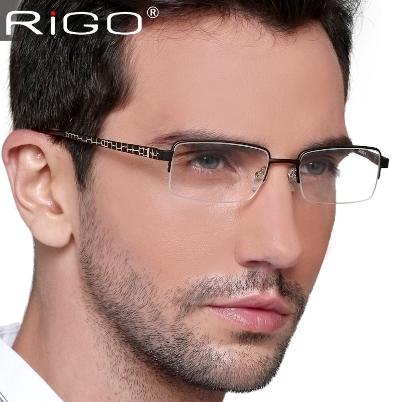 Big frame glasses myopia Men titanium eyeglasses reading male spring - Online Store 635416 store