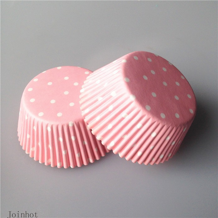 Real 100 Pcs Lot Pink Snowflake Point Paper Cupcake Cups Baking Cups Wedding Cupcake Liners DIY