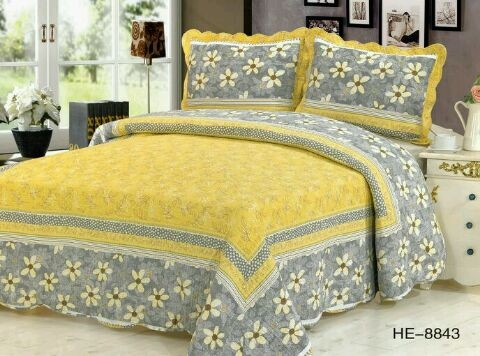 100% Cotton Washed Quilt Pastoral style 3/4piece Bed Cover set High end Bedclothes bedding set bedspread(China (Mainland))