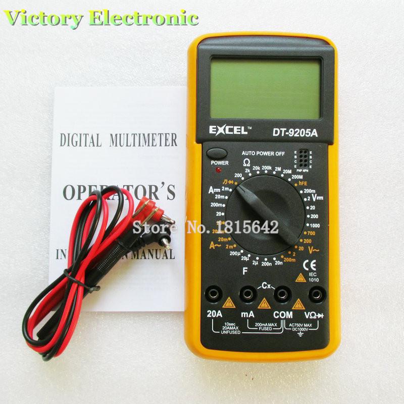 Гаджет  DT9205A AC/DC LCD Display Professional Electric Handheld Tester Meter Digital Multimeter Multimetro Ammeter Multitester The New None Инструменты