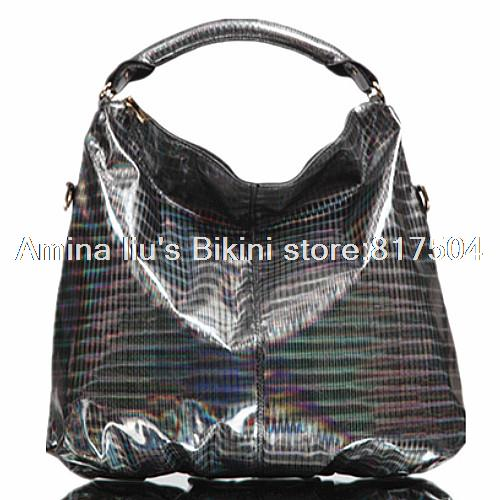 2015 New Fashion waterproof Black Laser PVC brand women handbag shoulder bags handbags Tote Bag crossbody - Amina liu's Bikini store