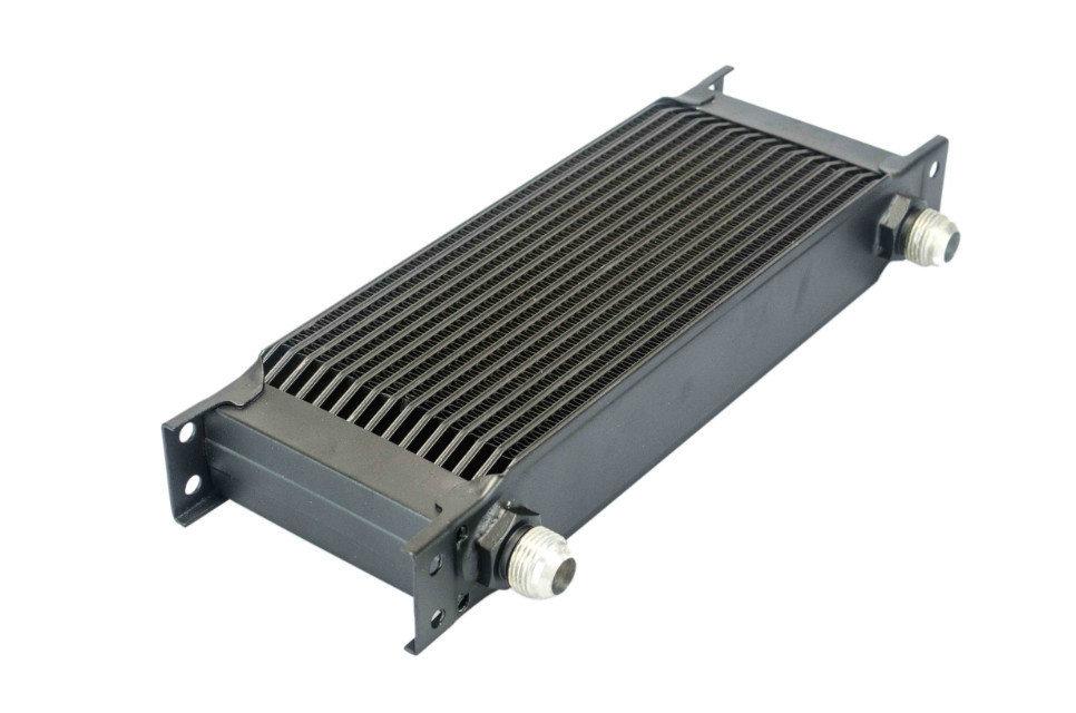 WLR STORE Aluminum Universal Engine transmission AN10 oil cooler 15rows Black WLR7015BK