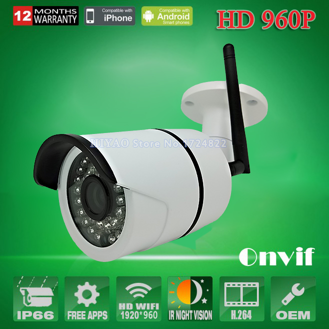 960P IP Camera Wireless 1.3MP Wifi security system Outdoor video capture surveillance HD ONVIF CCTV mini cameras Infrared(China (Mainland))