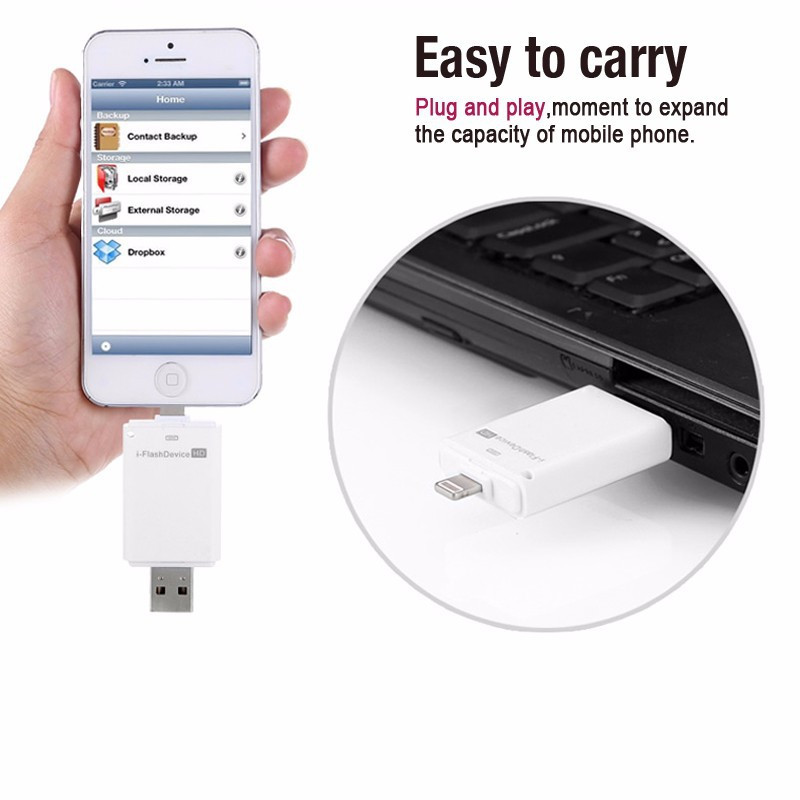 New Smart phone  pen drive  OTG Micro memory stick USB flash drive  8GB 16GB 32GB 64GB For PC iphone 5 5s iphone 6 plus
