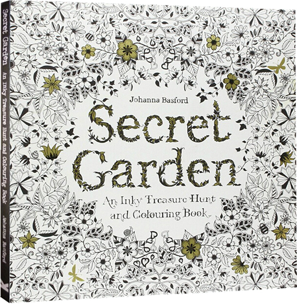 Secret Garden An Inky Treasure Hunt and Coloring Book For Children Adult Relieve Stress Painting Drawing Book English(China (Mainland))