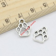 Buy 30pcs Hot Sale Antique Silver Tone Bear Paw Charms Pendants Jewelry Making DIY Handmade Craft 13x11mm C204 for $1.39 in AliExpress store