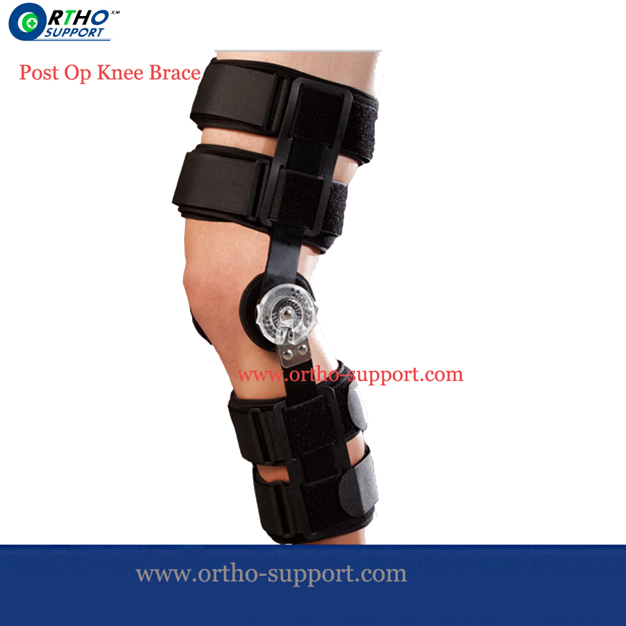 Post OP Knee Brace-Lite Knee Joint Immobilizer Extendable Hinge Medical Support For Knee/Cruciate Ligaments Injured(China (Mainland))