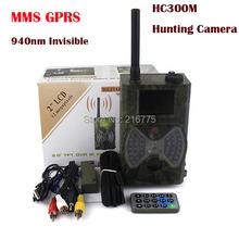 940NM scouting hunting camera HC300M New HD 1080P GPRS MMS Digital Infrared Trail Camera GSM 2.0' LCD IR Hunter Cam(China (Mainland))