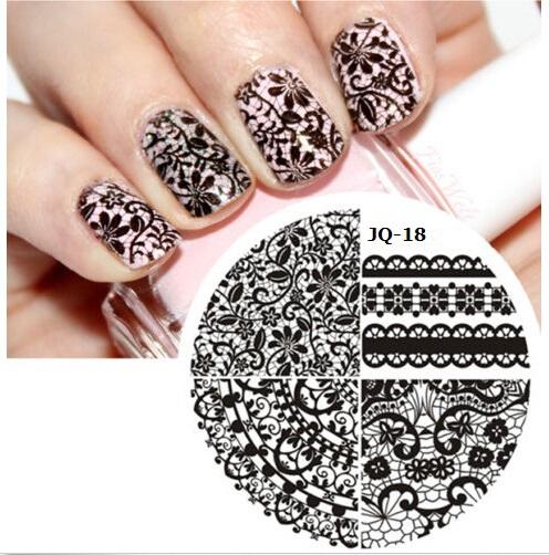 1 Piece Fashion Round Nail Art Lace Stencils Stamping Template Polish Print Nail Image Plates for DIY Hot Nail Tools #JQ18(China (Mainland))