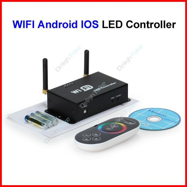 ( 20 pcs/lot ) RF WiFi Touch Panel LED Controller By Android IOS System Mobile Phone For 3528 5050 RGB LED Strip Wholesale(China (Mainland))