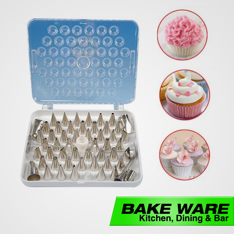52 Pieces Eco Friendly Stainless Steel Cup Cake Decorations Craft Tip Nozzles Decorating Tip Sets,Bakeware,Free Drop Shipping(China (Mainland))
