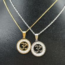Buy OHM Hindu Buddhist life tree Pendant necklace Women Chain OM Pendant Necklace 316L stainless steel women jewelry for $2.69 in AliExpress store