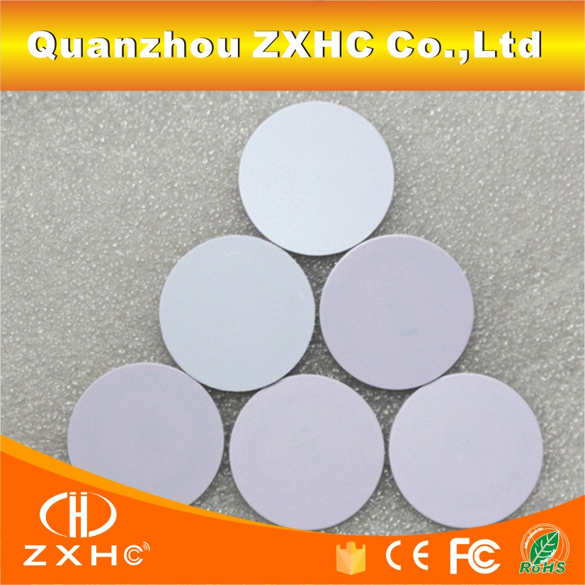 (10PCS/LOT) 13.56Mhz FM1108(M1 S50) 25mmx1m Waterproof NFC Tags RFID Smart PVC Coins Cards()