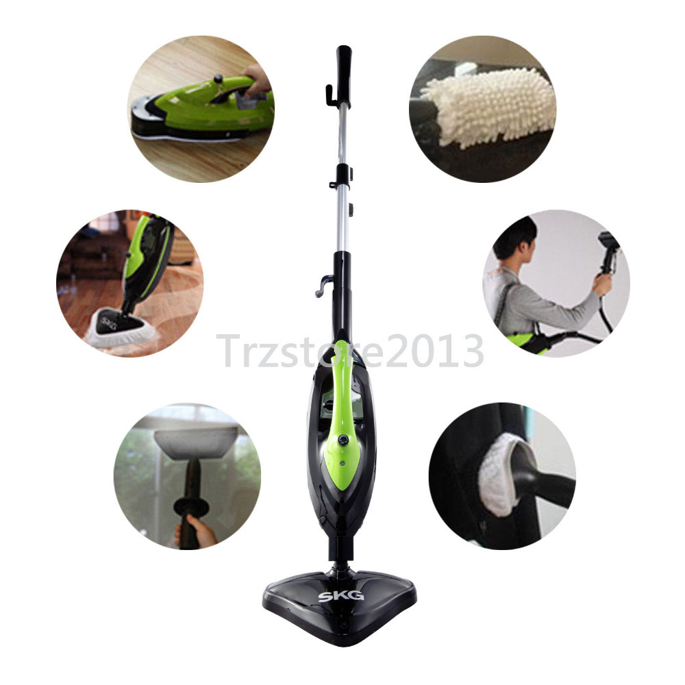 USA Warehouse NEW SKG 1500W 6in1 Steam Mop Floor Carpet Cleaner Hand Held Garment Steamer US Seller(China (Mainland))