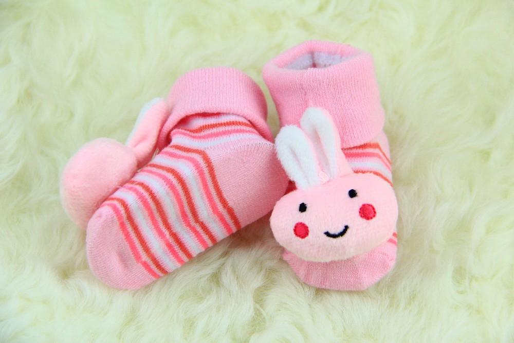 Baby Animal Socks Newborn Baby Boys Outdoor Shoes Infant Girls Anti-slip Walking Children Warm Sock kids Gift(China (Mainland))