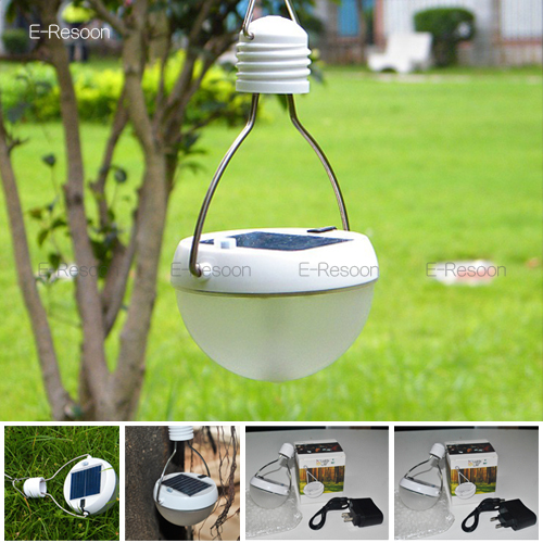 New 9LED Solar LED Lamp Portable Outdoor Solar Light Bulbs Camping Lantern +USB Line+Charger Waterproof IP65,Free Shipping(China (Mainland))