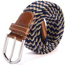 New 2014 Brand Casual Elastic Cotton Stretch Braided Men Belts Brown Black Fashion Men Accessories
