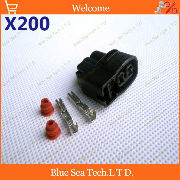 200 sets 2Pin 2.0mm Auto connector,car FBT plug,Car Electrical connector for KIA,HYUNDAI,Cerato,Elantra,RIO CVVT etc.<br><br>Aliexpress