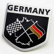 New GERMANY German Chequered Flag Car Badge Emblem Decal Sticker Boot Rear Aluminium Fit For A1 A2 A3 A4 A5 A6 A7 A8 Q3 Q5 Q7 R8