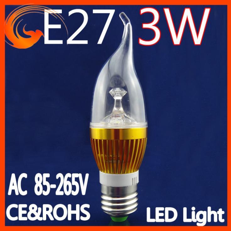 5PCS/set 3W E27 Dimmable AC85~265V white/warm white LED Bulb Light Spot Light LED Light Lamp for household using Goldshell(China (Mainland))