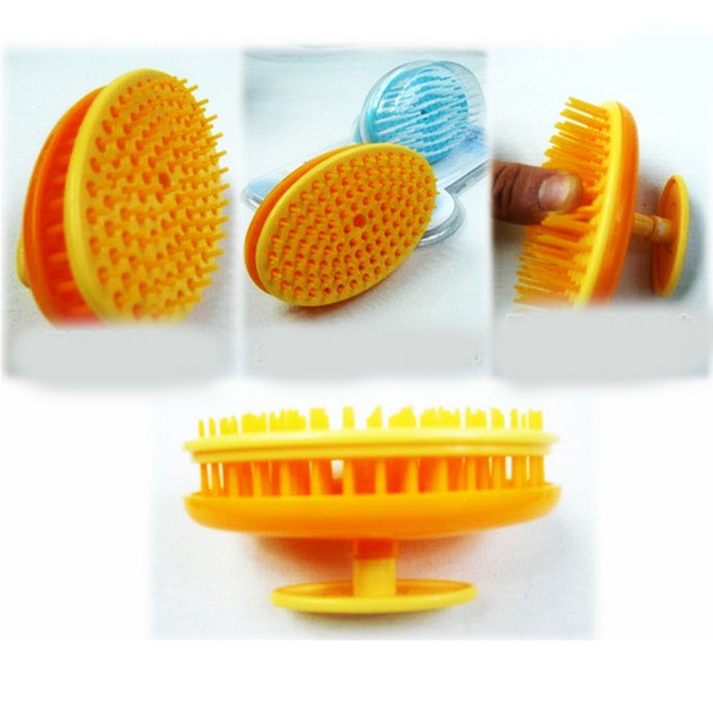 Top sale orange color Healthy Scalp Massage Hair Shower Shampoo Brush Comb super fit for long hair(China (Mainland))
