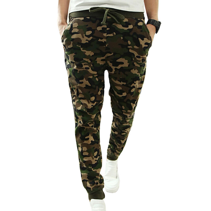 2015 Military Printing Hip Hop Sweat Pants Harem Dance Jogger Baggy Trousers Slacks Men Jogging Sport Pants Man Trousers Joggers(China (Mainland))