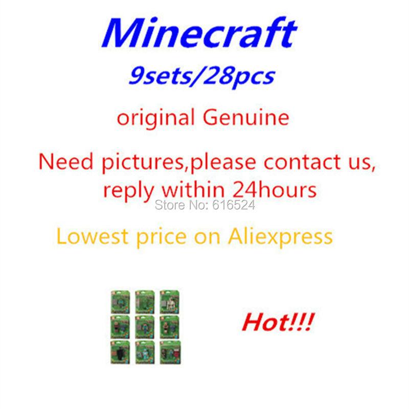 Гаджет  28pcs/9set Minecraft toys PVC action figure Original armor steve creeper sword model lot collectible Christmas Gift for children None Игрушки и Хобби