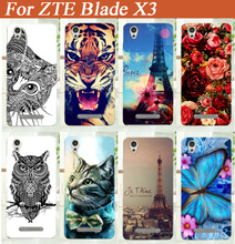 For ZTE Blade X3 tpu case cover Brilliant and Stand  Design Hot Sale Colored Painting Hard mobile phone TPU case Free Shipping