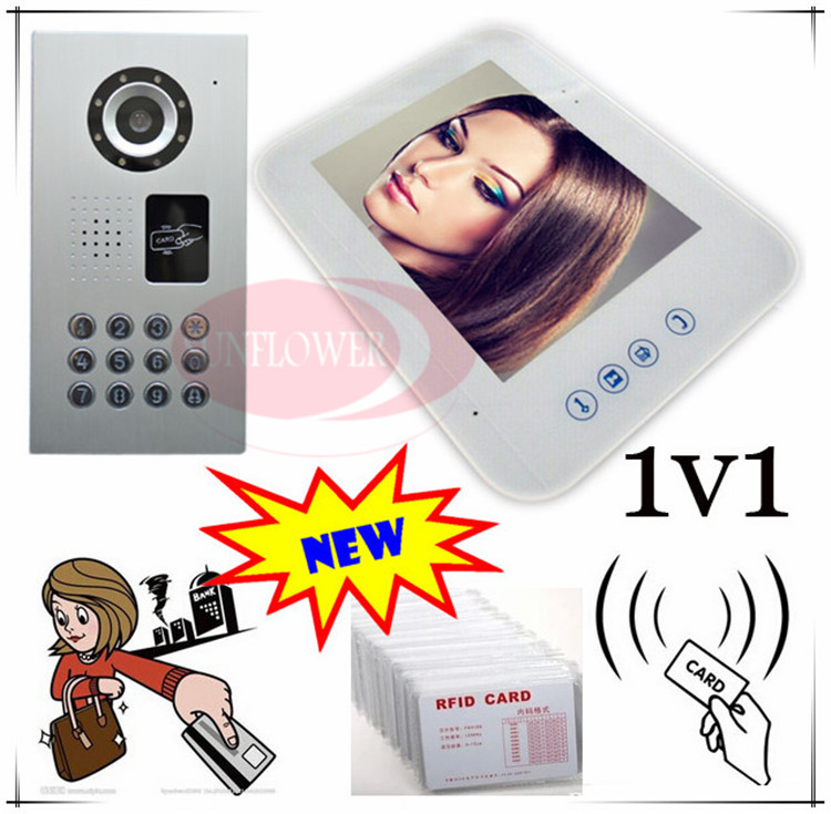 RFID CARD &PASSWORD unlock Video door phones intercom systems outdoor unit waterproof(IP65) Strong weatherproof function!!!(China (Mainland))