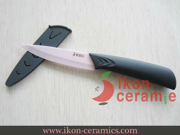"Free Shipping! 4"" Ikon Ceramic fruit knife New 100% Zirconia & scabbard Ceramic Knife(AJ-D4001P-CGR)"