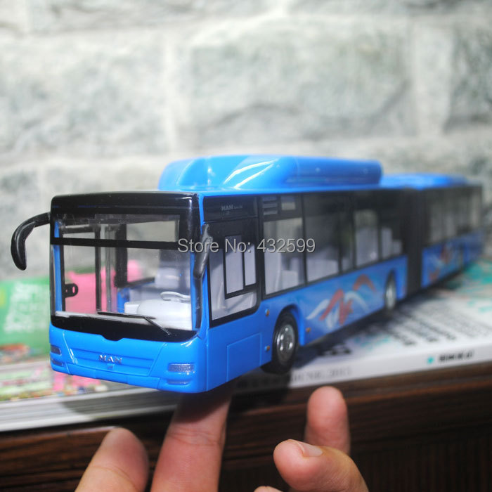 3pcs/pack Wholesale Brand New 1/43 Scale Diecast Car Model Toys Germany MAN City Express Long Bus Friction Power Car Toy(China (Mainland))