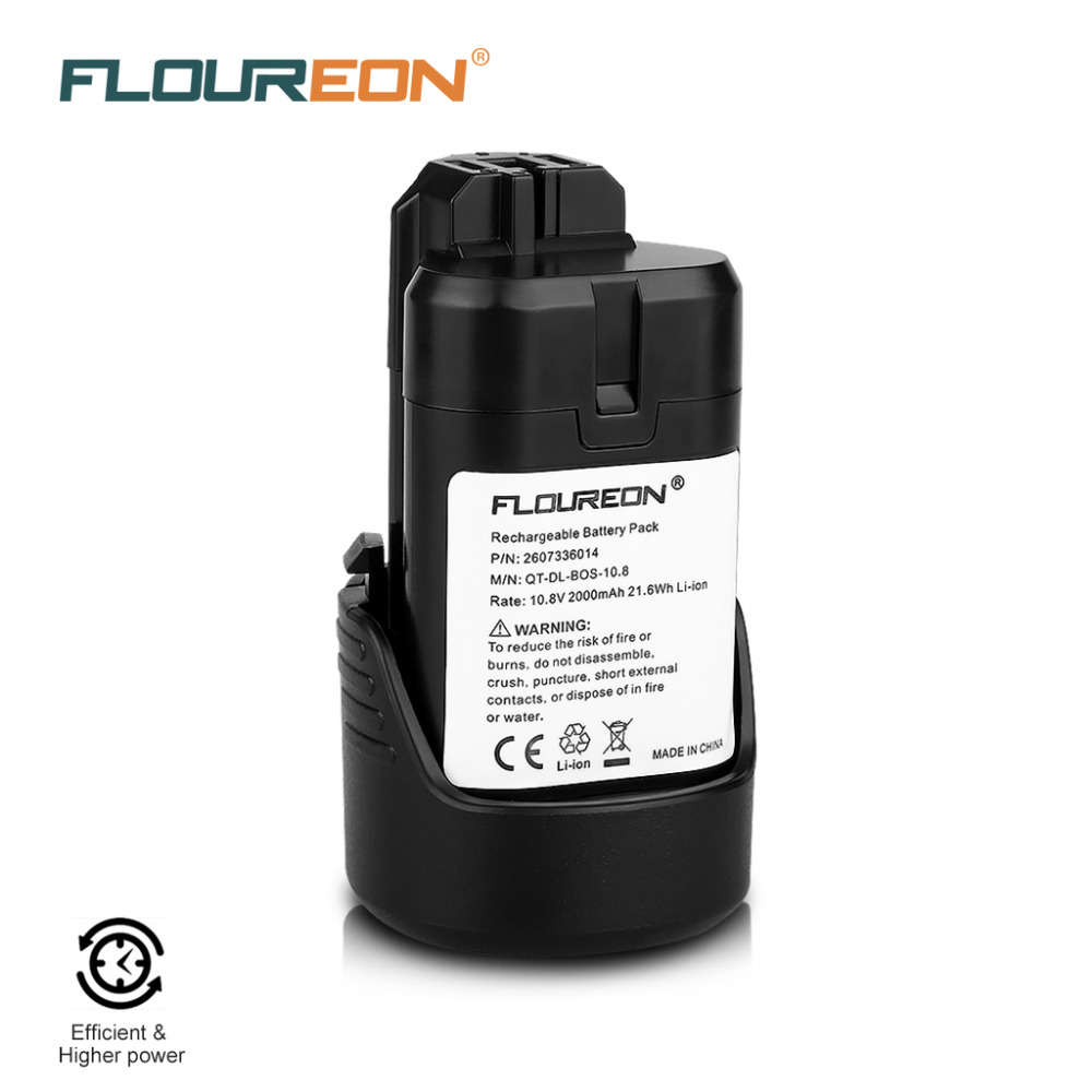FLOUREON for Bos 10.8V 2000mAh Rechargeable Battery Pack Power Tools Li-ion Battery for Bosch2 607 336 014,2 607 336 864,BAT411(China (Mainland))