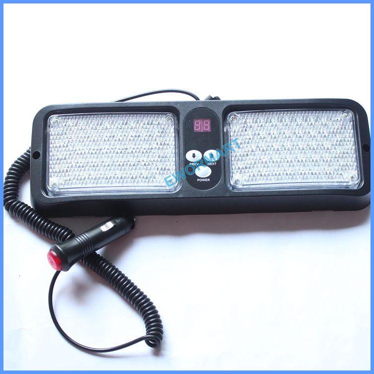 Powerful Car Visor Emergency 86 Led strobe light Sunvisor strobe Flashing Lamp Auto Blue Red White Amber Beacon Warning Led(China (Mainland))