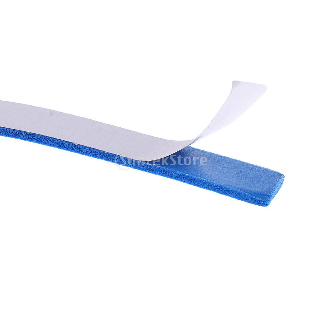 20 Pieces Table Tennis Paddle Edge Tape Racket Side Sponge Protect Tape Blue + Black