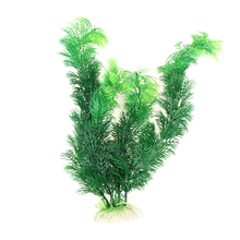 "Plastic Aquarium Decorations 11.8"" Green Artificial Plastic Plant Grass FishTank Aquarium Ornament Decor(China (Mainland))"