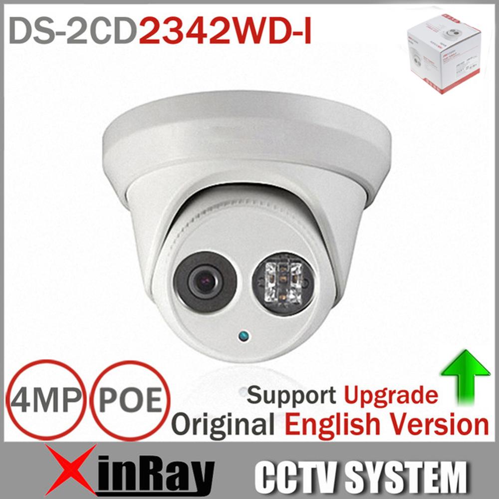 Hikvision Original English Version DS-2CD2342WD-I 4MP WDR EXIR Turret Network Camera MINI Dome IP Camera CCTV Camera(China (Mainland))