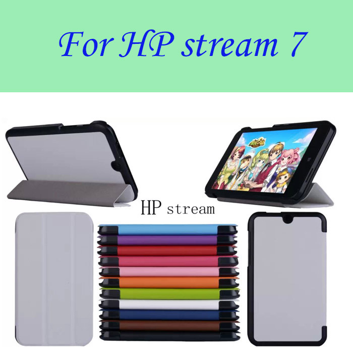 "Tri-Fold Ultra Slim Stand Case Cover For 7"" HP Stream 7 Tablet PC New free shipping(China (Mainland))"