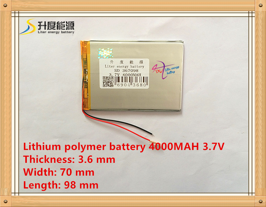 Liter energy battery 367098 4000mAh 3.7V original road N70S 7 inch Tablet PC battery cool x5 Newman on behalf Chilean T7S(China (Mainland))