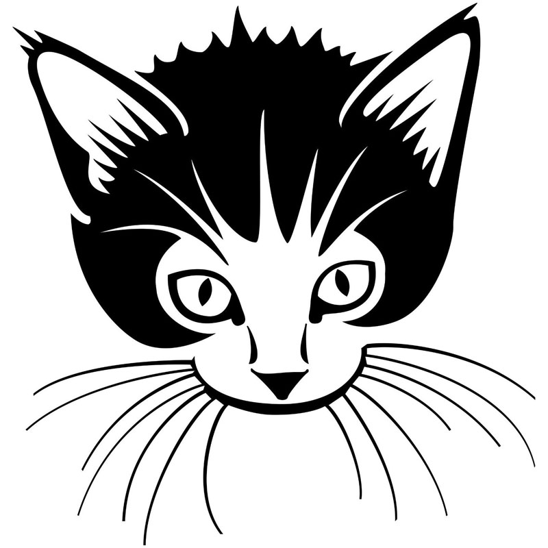 14.6*15.2CM Pet Kitten Picture Window Decals Motorcycle Accessories Funny Car Sticker Black/Silver C6-0401(China (Mainland))