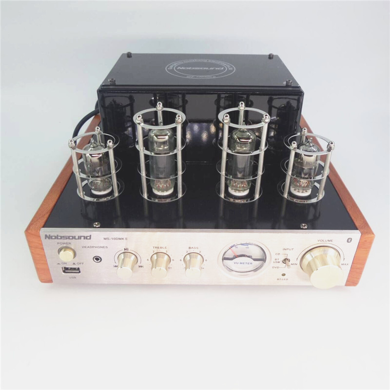second generation Nobsound MS-10D Bluetooth Wireless transmission music Stereo audio Tube Amplifier , Home HIFI power amplifier(China (Mainland))