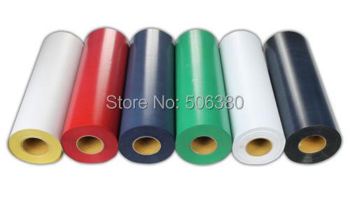 "6Rolls 19""x3' Flocking Heat Transfer Vinyl For Plotter Transfer in 6 Colors(China (Mainland))"